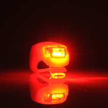Silicone LED Bike Cycling Light Bicycle Head Front Rear Tail Strobe Lamp Waterproof Red Warning Durable Brand