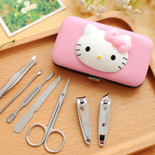 Hello Kitty Nail Clipper Kit Stainless Steel Nail Art Set Nail Clippers Nail Scissors Manicure Tools