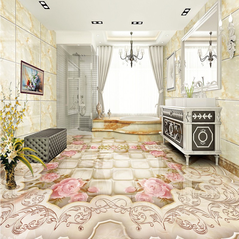 Free shipping photo Marble parquet 3d flooring chinese style wear non-slip wedding room living room bedroom mural wallpaper<br><br>Aliexpress