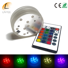 4pcs /lots NEW Waterproof RGB Submersible Light Wedding Party Vase Floral Led Base Light Lamp With Remote Control