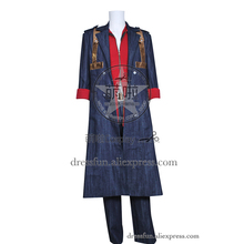 Devil May Cry Cosplay Nero Costume Fashion Suit Halloween Fashion Party Fast Shipping Popular Uniform Jacket Coat Denim Version(China)