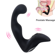 gelugee Male Prostate Massager Butt Plug Sex Toys for Men Silicone 10 Speed Anal Vibrator for Adult Man Anal Toys Sex Shop(China)