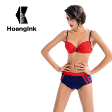 BRANDMAN blue plus red combination sexy bikini,sports ladies swimsuit, choose high-quality fabric wearing comfortable(China)