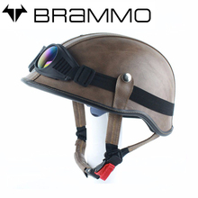 Manual customization Harley motorcycle Half helmet Leather Halley helmet Classic Retro scooters helmets casco moto capacete