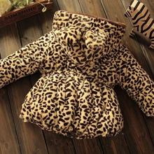 2017 Winter Baby Girls Clothes Faux Fur Fleece Leopard Infant Coat Warm Kids Jacket Snowsuit Hooded Children Outerwear JW2821A(China)