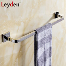 Leyden High Quality Stainless Steel Rail Towel Polished Chrome Towel Holder Wall Mounted Single Towel Hanger Bathroom Accessory(China)
