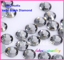 Free Shipping! 1440pcs/Lot, ss16 (3.8-4.0mm) High Quality DMC Black Diamond Iron On Rhinestones / Hot fix Rhinestones