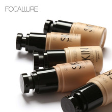 FOCALLURE New Face Foundation Makeup Base Liquid Concealer Moisturizer Oil-control Women