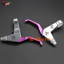 RIGHT + LEFT HANDLE BRAKE LEVER 43CC 47CC 49CC GAS SCOOTER MINIMOTO MINI POCKET DIRT BIKE PURPLE