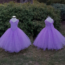 Lavender Gown Tutu Dress Stunning Princess Tulle Baby Girl Tutu Dresses Purple Glittery Gown Dress Inspire Lavender Girls Dress(China)