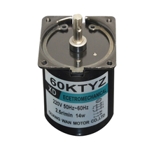 60KTYZ AC motor 220V motor micro slow speed machine 14W  2.5-110rpmpermanent magnet synchronous motor small motor