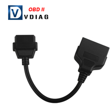 2016 Wholesale For TOYOTA 22Pin to 16Pin OBD1 to OBD2 OBDII Connect Cable chp Free Shipping(China)