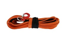 "The Lowest Price Free Shipping 12mm x 30m 1/2"" x 100' Orange Synthetic Winch Line With Hook UHMWPE Rope 4x4 4WD ATV OFF-ROAD"