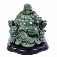 Feng Shui Big Laughing Buddha of Wealth/ Happiness Resin Statue