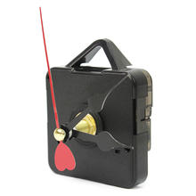 Fashion Quartz Clock Mechanism Movement Parts Repair Replacement Tool Kit with Black Red Heart Design Hands(China)