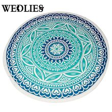 Tapestry Flower Printed Round Beach Towels With Tassel Circle Beach Towel Decoration Towels Throw Towel Table Cloth Yoga Mat