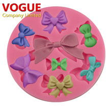 Bow Silicone Mold Christmas Fondant Chocolate Mold bow-knot Wedding Cake Decorating Craft Moulds Candy Molds Kitchen Accessories