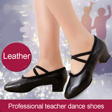 New Leather Stretch Jazz Dance Shoes For Women Ballet Dancing Shoe Teachers's Dance Sandals Excercise Shoe