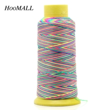 Hoomall Марка Красочные хлопок нить для пришивания DIY ручной стежок нить 0.6 мм вышивка <strong>нитки для вышивания с алиэкспресс</strong> швейных ниток аксессуары 1 рулон/ 180 м(China)