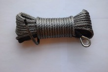 Good quality Grey 6mm*15m Synthetic Winch Rope ,ATV Winch Cable,Boat Winch Cable,Off Road Rope
