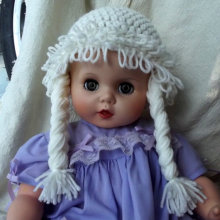 baby bonnet Cabbage Patch Hat Baby Wig Hats for Kids Halloween Costume
