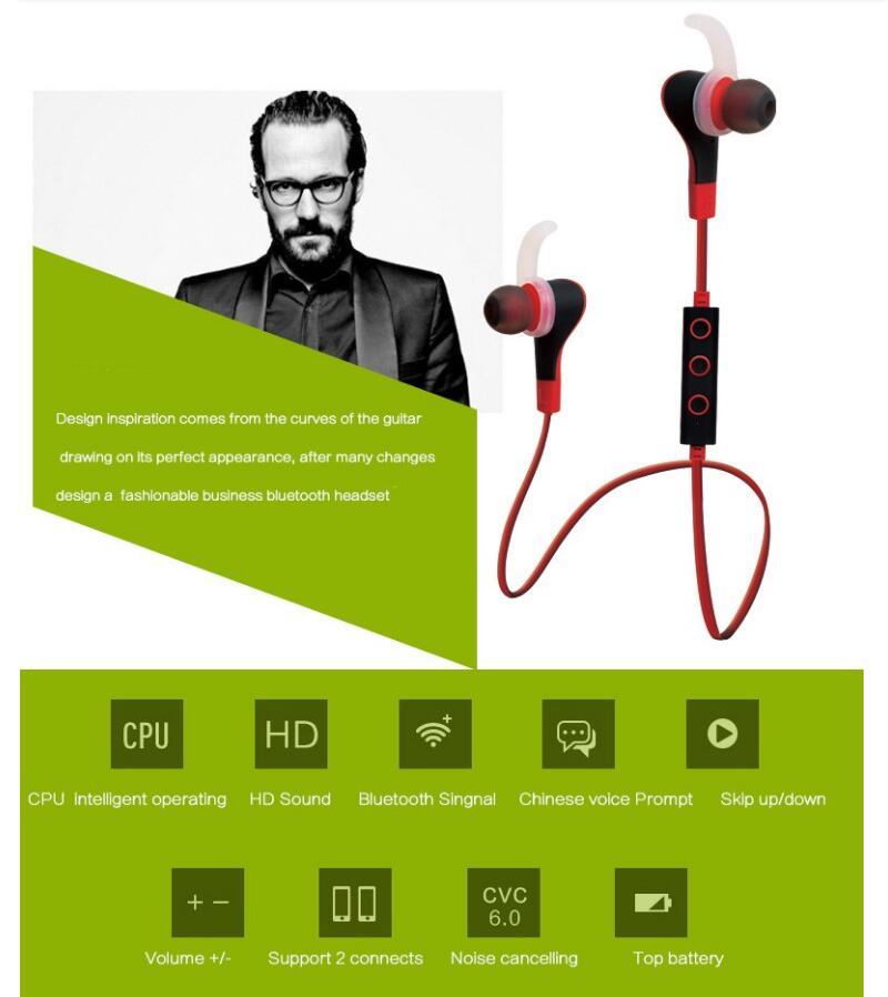 BT-50 Wireless 4.1v Bluetooth Earphone Super Bass HIFI Stereo Sound Music Headset With Microphone Subwoofer Earphone