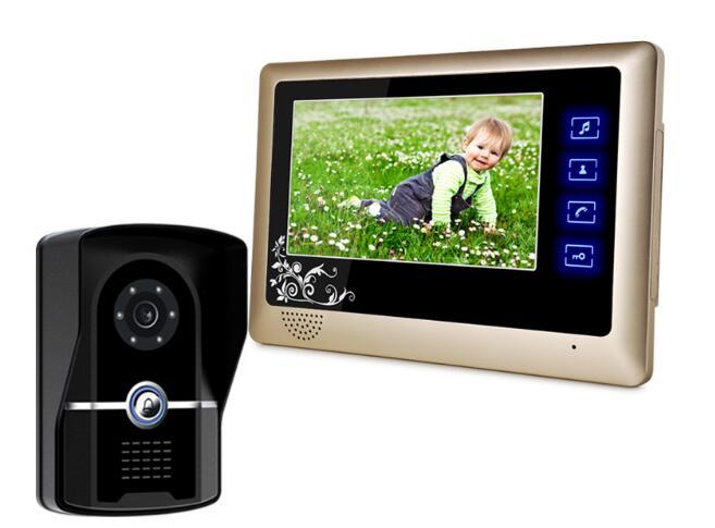 freeship 7 Night Visual Color Video Door phone 700TVL door monitor villa intercom systems video intercom door phone<br><br>Aliexpress