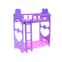 Hot 2017New Fashion Girl birthday gift plastic bed for barbie doll mini kelly doll play house accessories gift toy for girl