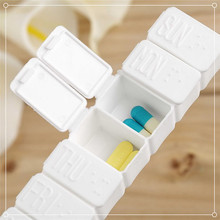 7 Day Tablet Pill Box Holder Weekly Medicine Storage Organizer Plastic Container Case