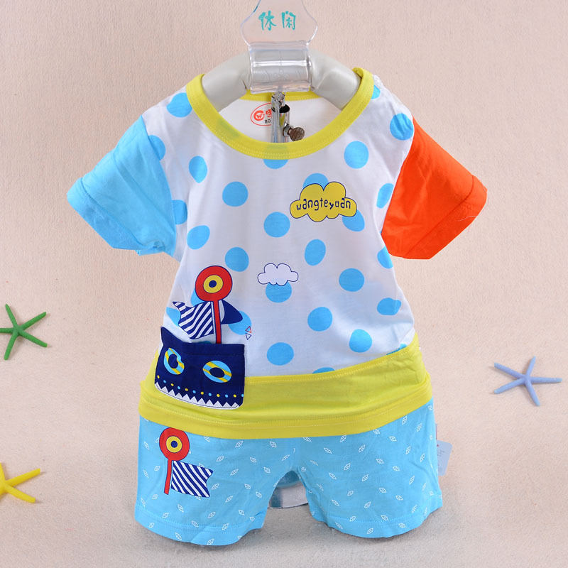 2017 New Summer Style Boy Baby Dress 3 Months 2 Years Old Lovely Clothing Cute Boat Short Sleeve Clothes Sets To Gifts In From