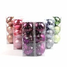 12 PCS 6cm Modern Christmas Tree Ball Baubles Xmas Party Wedding Hanging Ornament Christmas Decoration Supplies(China)