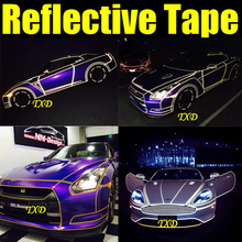 2CMX10M Decoration reflective tape for car body decoration,3m reflective vinyl film