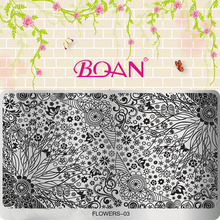 New BQAN 1 Sheet Flower Series Little Flowers 16*10.5CM DIY Nail Art Stamping Printing Machine FL03(China)