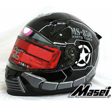 MASEI 850 Black zaku full face helmet motorcycle helmet mens womens helmet ABS high quality racing DOT ECE approved helmet