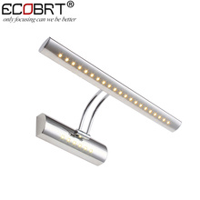 5W Modern Indoor Bathroom Mirror Wall lights led Stainless steel SMD5050 Swing Arm Sconces Picture lamps 5w CE ROHS 100-240v AC