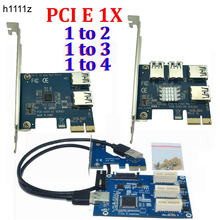 PCI E 1 to 3 / 4 / 2 PCI express 1X slots Riser Card Mini ITX to external 3 PCI-E slot adapter PCIe Port Multiplier Card VER005(China)