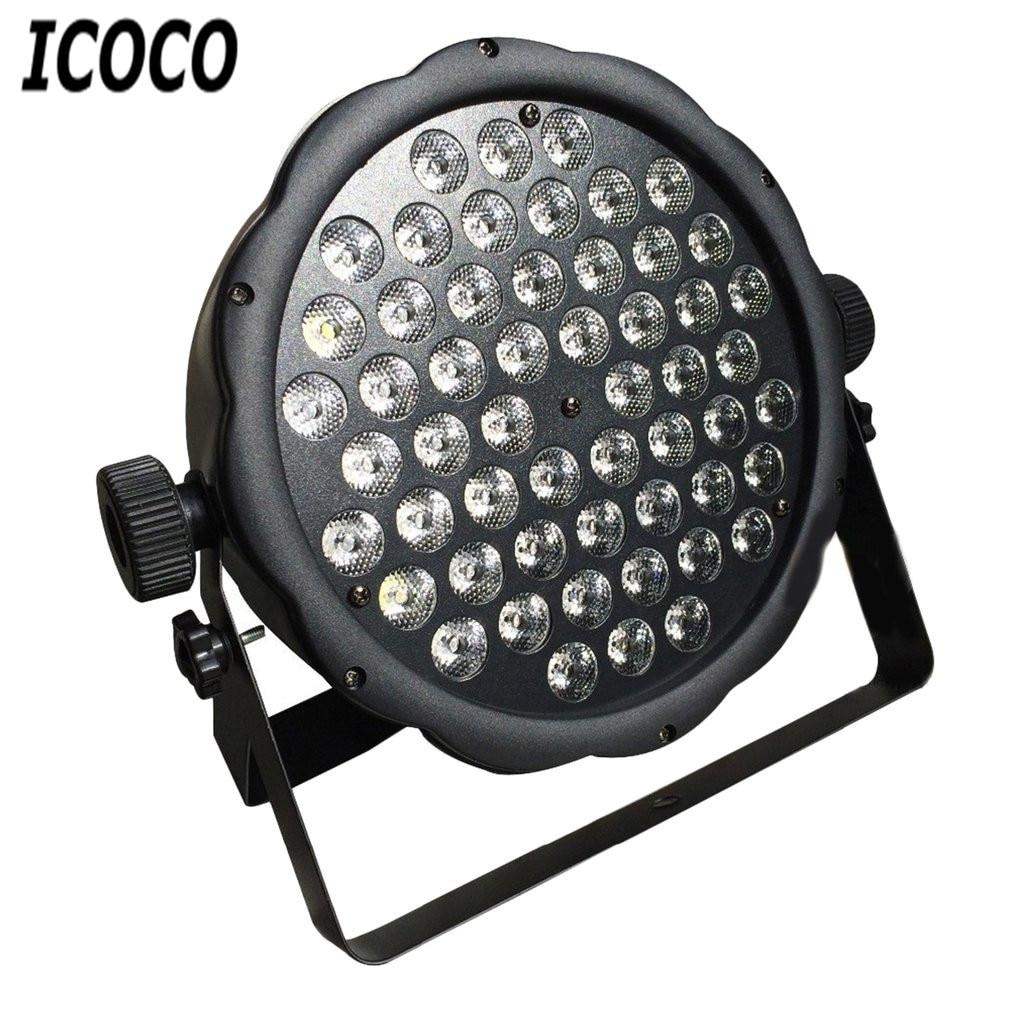 ICOCO 54 LEDs 1W Plastic Par Light Disco Stage Club Party KTV Show Flat Equipment Bright Light Spotlight Sound Controller Sale<br>
