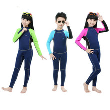 2MM Neoprene Diving Suit for Kids Boys Girls Airtight Warm Jellyfish Snorkeling Surfing Diving wetsuits Scuba Diving Suit T(China)