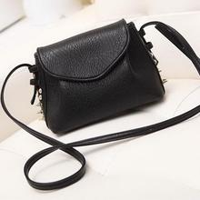 Fashion Female Mini Rivet On Side Leather Cross Body Purses Ladies Saddle Shoulder Messenger Sling Bag New Girls Casual Handbag