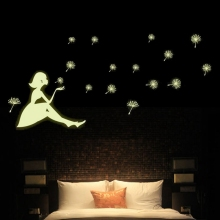 Cute Removable Glow In The Dark Light Dandelion Wall Stickers Home Bedroom Kids Room Nursery Ceiling Art Decor Stick Gift