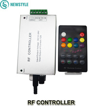 DC12-24V 18Keys Led RF Remote Controller Audio Input Wireless, LED Music Sound Control RGB led Controller for RGB LED Strips(China)