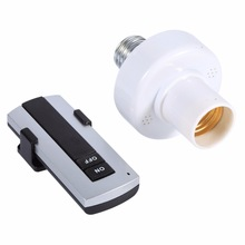 E27 Screw Wireless Remote Control Light Lamp Bulb Holder Cap Socket Switch 220V