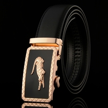 WOWTIGER New Designer Men's Belts Luxury Man Fashion Genuine Leather Belt for Men High Quality Male Automatic Buckle Ceinture(China)