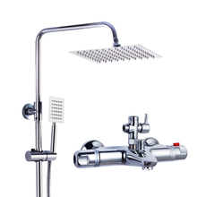 Free Shipping 8 Inch Bathtub And Shower Thermostatic Faucet Shower Set Bathroom Rain Shower Set 07