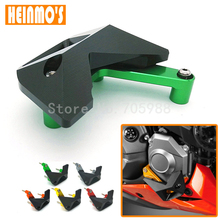 New Style Motorcycle Green Color Parts CNC Aluminum Alloy Engine Cover Protection Pad Kit For Kawasaki Z1000 2010-2016(China)