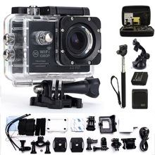 Action Camera  gopro hero 4 style Mini Cam wifi 170 degrees 1080p 30fps Waterproof 30m  Outdoor Sport Camera
