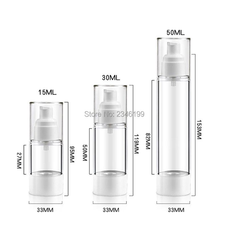 Dewarflask Plastic Bottle Transparent Spray Emulsion Bottle Lotion Pump Vacuum Spray Bottle Travel Bottling 20pcsLot (6)