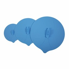 3Pcs Blue Silicone Steam Ship Pot Lids Pressure Cooker Seal Slicone Cover For Pan Silicone Spill Stopper Lid Cooking Tool(China)