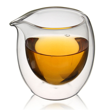 Handmade 200ml Clear Heat Resisting Double Wall Layer Glassware Tea Cup Pitcher Heat Insulation Chinese Kongfu Tea Cup Coffee(China)