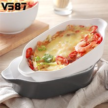 Ceramic Baking Bowl Dish Rectangular Non-stick Bakeware Coated Cooking Fry Pan Cake Muffin Loaf Pan Roaster Baking Mold